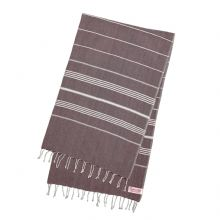 "Hammam Bath, Beach Fouta Towel, Moroccan Purple Brown, Large (170 cm x 100 cm / 77"" x 39.3"")"